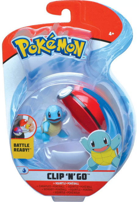 Pokemon Clip 'N' Go Squirtle & Poke Ball Figure Set