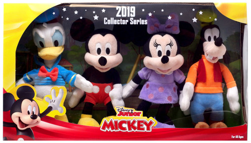 Disney Junior 2019 Collector Series Donald, Mickey, Minnie & Goofy 8.5-Inch Plush 4-Pack Set