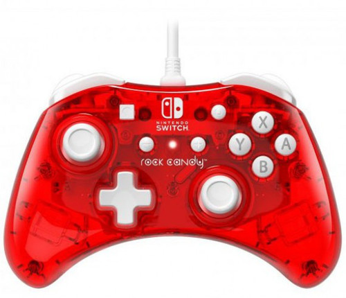 Nintendo Switch Rock Candy Stormin Cherry Video Game Wired Controller (Pre-Order ships April)