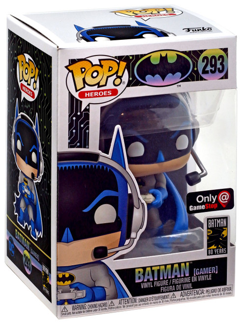 Funko DC Batman 80th POP! Heroes Batman Exclusive Vinyl Figure #293 [Gamer]