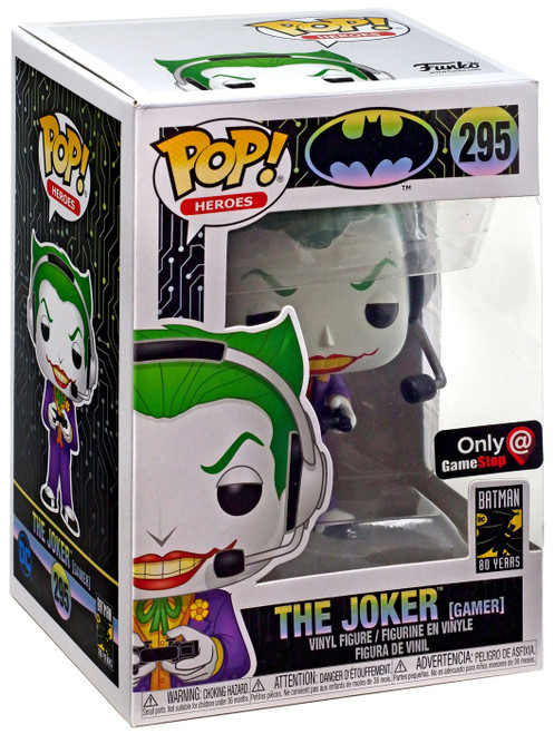 Funko DC Batman 80th POP! Heroes The Joker Exclusive Vinyl Figure #295 [Gamer]
