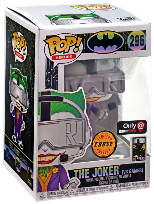 Funko DC Batman 80th POP! Heroes The Joker Exclusive Vinyl Figure #296 [VR Gamer, Chase]
