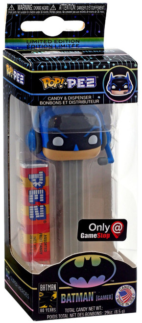 Funko DC Batman 80th POP! PEZ Batman Exclusive Candy Dispenser [Gamer, Gray]