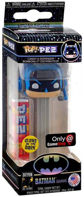 Funko DC Batman 80th POP! PEZ Batman Exclusive Candy Dispenser [Gamer, Gray, Glow-in-the-Dark]