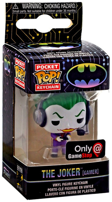 Funko DC Batman 80th Pocket POP! Heroes The Joker Exclusive Keychain [Gamer]