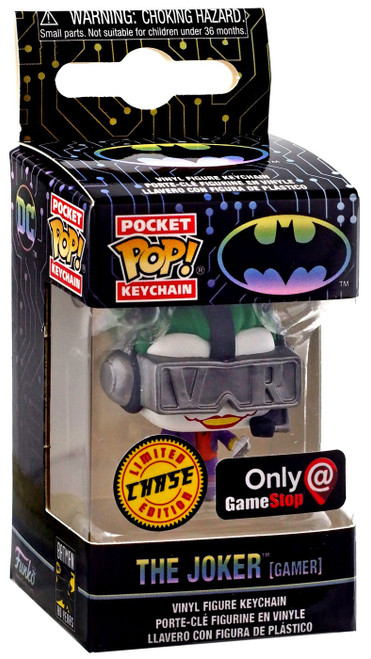 Funko DC Batman 80th Pocket POP! Heroes The Joker Exclusive Keychain [VR Gamer, Chase]