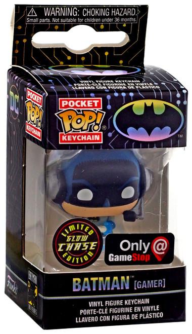 Funko DC Batman 80th Pocket POP! Heroes Batman Exclusive Keychain [Gamer, Chase, Glow-in-the-Dark]