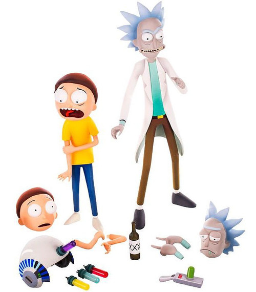 Rick & Morty 11.5-Inch Collectible Figure 2-Pack