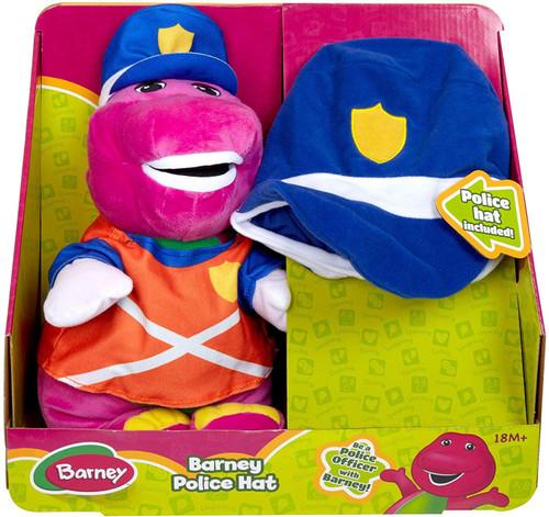 Barney Police Hat 12-Inch Plush
