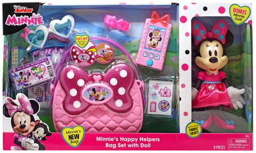 Disney Minnie Mouse Minnie's Happy Helpers Bag Set 10-Inch Playset [Bonus Minnie Doll]