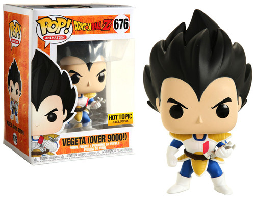 Dragon Ball Z POP! Animation Vegeta Exclusive Vinyl Figure #676 [Over 9000]