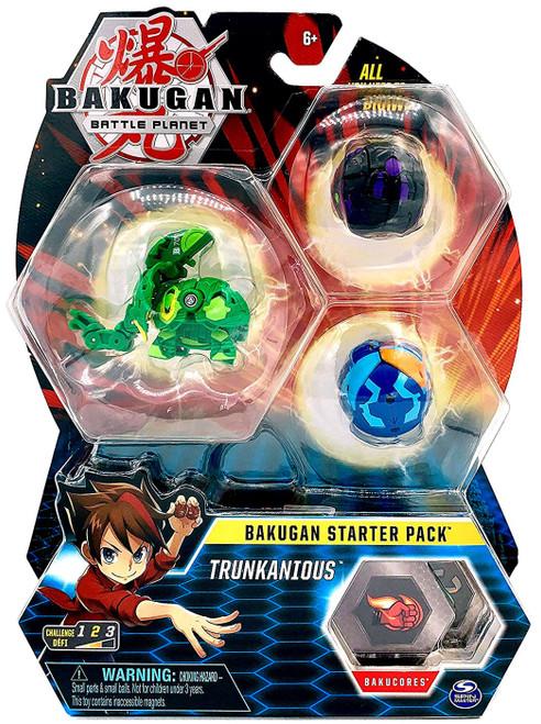 Bakugan Battle Planet Starter Pack Trunkanious 3-Figure Set