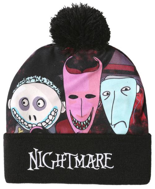 Nightmare Before Christmas Oogies Boys Pom Beanie Hat