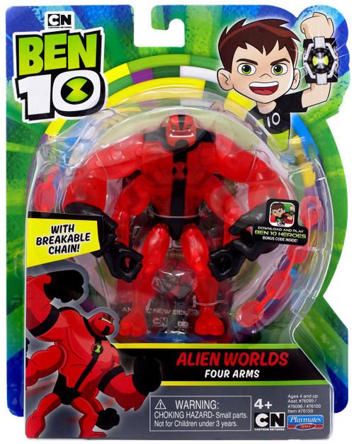 Ben 10 Alien Worlds Four Arms Action Figure [Breakable Chain!]