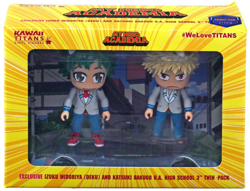 My Hero Academia Kawaii Isuku Midoriya (Deku) & Katsuki Bakugo U.A. High School Exclusive 3-Inch Vinyl Mini Figure 2-Pack