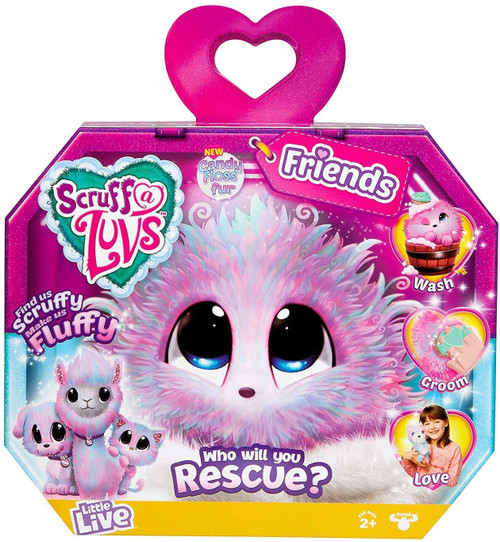 Little Live Pets Scruff A Luvs Friends Plush Surprise Rescue Pet [Candy Floss Fur]