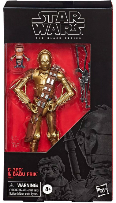 Star Wars The Rise of Skywalker Black Series C-3PO & Babu Frik Exclusive Action Figure