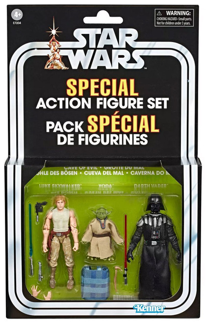 Star Wars Vintage Special Luke Skywalker, Yoda & Darth Vader Exclusive Action Figure 3-Pack [Cave of Evil]
