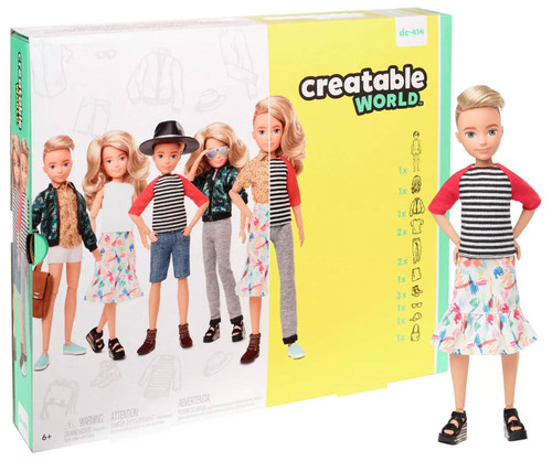 Creatable World Blonde Wavy Hair Deluxe Character Kit DC-414
