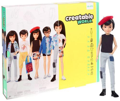 Creatable World Black Straight Hair Deluxe Character Kit DC-073
