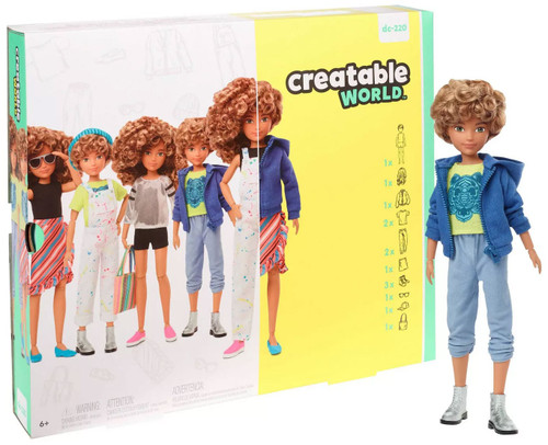 Creatable World Blonde Curly Hair Deluxe Character Kit DC-220