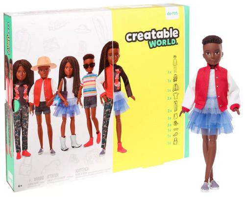 Creatable World Black Braided Hair Deluxe Character Kit DC-725