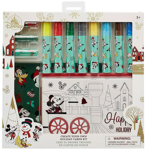 Disney Mickey Mouse and Friends Create Your Own Holiday Card Exclusive Art Kit