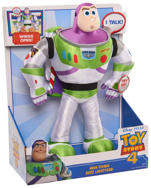 Toy Story 4 High Flying Buzz Lightyear 13-Inch Plush Figure with Sound