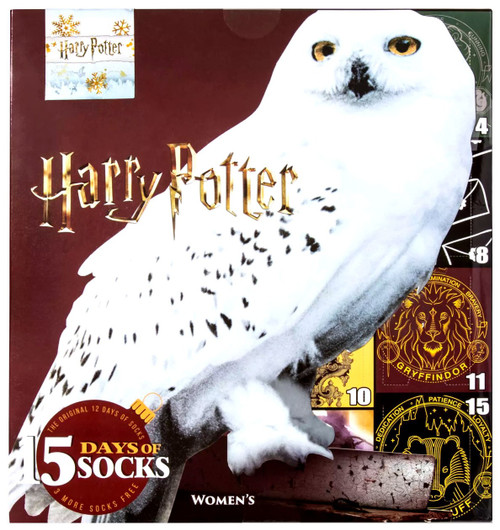 15 Days of Socks Womens Harry Potter Exclusive 15-Pack [Womens Shoe Size 4 - 10]
