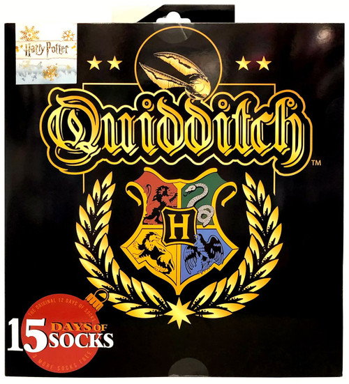 15 Days of Socks Harry Potter Mens Quidditch 15-Pack [Mens Shoe Size: 6 - 12]
