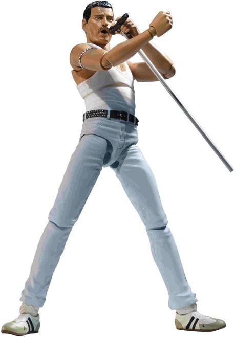 Music S.H. Figuarts Freddie Mercury Action Figure [Live Aid Variant]