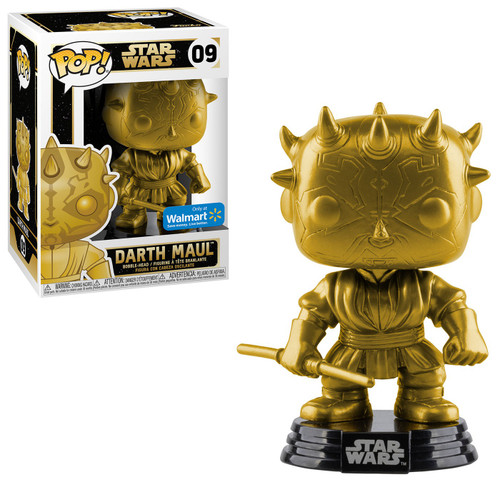 Funko POP! Star Wars Darth Maul Exclusive Vinyl Bobble Head #09 [Gold Metallic]