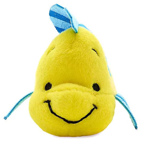 Disney The Little Mermaid Tiny Big Fins Flounder Exclusive 5-Inch Micro Plush