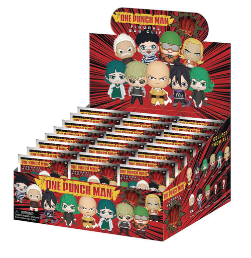 3D Figural Foam Bag Clip One Punch Man Series 1 Mystery Box [24 Packs]
