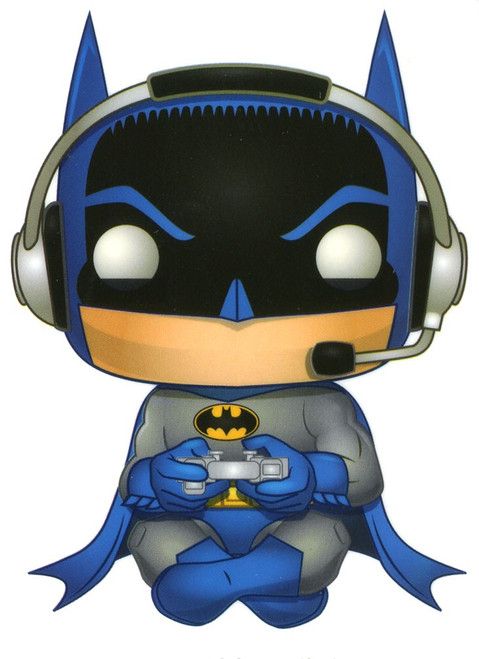 Funko DC Batman 80th Batman Exclusive 3.25-Inch Sticker [Gamer, Sitting]
