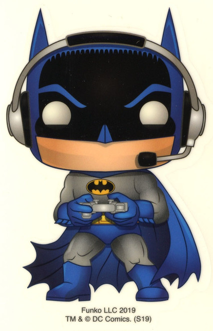 Funko DC Batman 80th Batman Exclusive 3.25-Inch Sticker [Gamer, Glow-in-the-Dark]