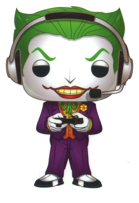 Funko DC Batman 80th The Joker Exclusive 3.25-Inch Sticker [Gamer]