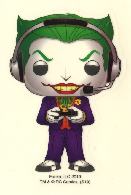 Funko DC Batman 80th The Joker Exclusive 3.25-Inch Sticker [Gamer, Glow-in-the-Dark]