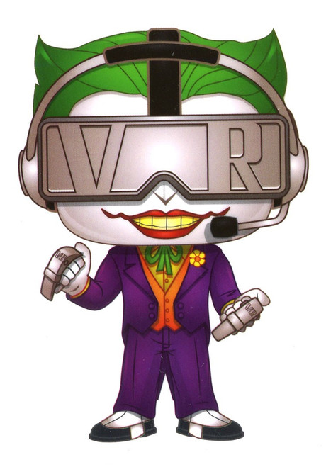 Funko DC Batman 80th The Joker Exclusive 3.25-Inch Sticker [VR Gamer]