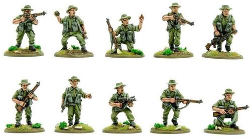 Bolt Action WWII Wargame Korean War British Infantry Section (summer) Miniatures