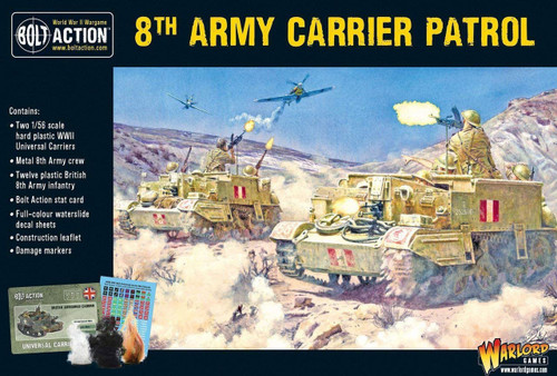 Bolt Action WWII Wargame Allies 8th Army Carrier Patrol Miniatures