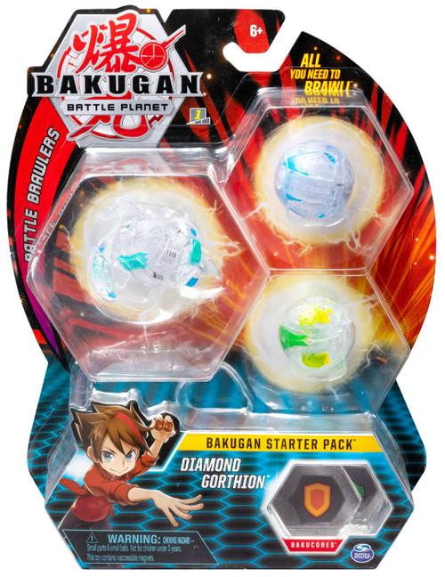 Bakugan Battle Planet Battle Brawlers Starter Pack Diamond Gorthion 3-Figure Set