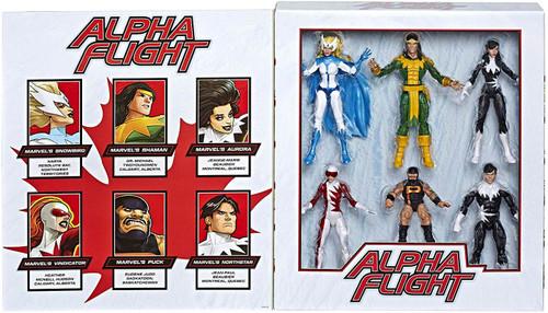 Marvel Legends 80th Anniversary Alpha Flight Exclusive Action Figure 6-Pack [Shaman, Snowbird, Aurora, Northstar, Vindicator & Puck]