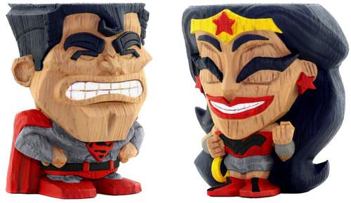 DC Teekeez Superman & Wonderwoman Exclusive 2.75-Inch Collectible Figure 2-Pack [Red Son]