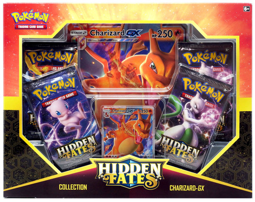 Pokemon Trading Card Game Sun & Moon Hidden Fates Charizard-GX Collection Box [4 Booster Packs, Promo Card & Oversize Card]