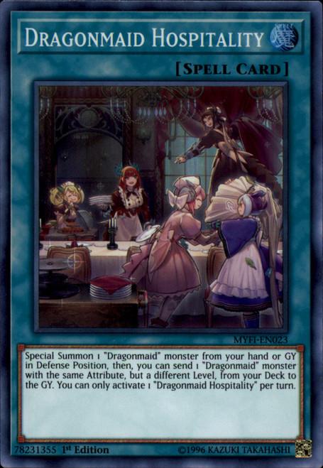 YuGiOh Mystic Fighters Super Rare Dragonmaid Hospitality MYFI-EN023