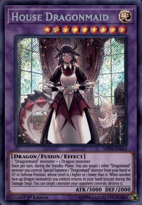 YuGiOh Mystic Fighters Secret Rare House Dragonmaid MYFI-EN022