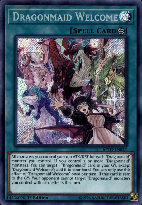 YuGiOh Mystic Fighters Secret Rare Dragonmaid Welcome MYFI-EN024
