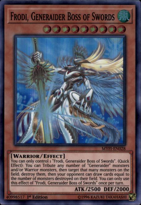 YuGiOh Mystic Fighters Super Rare Frodi, Generaider Boss of Swords MYFI-EN028