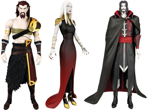 Castlevania Select Series 2 Dracula, Carmilla & Godbrand Set of 3 Action Figures